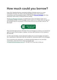 Comprehensive Mortgage Calculator Reverse Mortgage Seniors Finance Heartland By