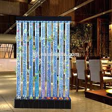 wall fountain indoor restaurant furniture led water bubble festival bamboo waterfall