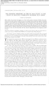 the internet rhetoric of the ku klux klan a case study in web  the internet rhetoric of the ku klux klan a case study in web site community building run amok pdf available