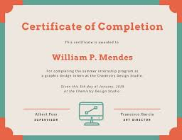sample certificates of completion customize 49 internship certificate templates online canva