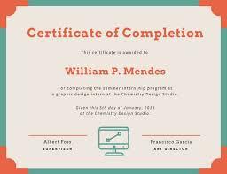 Customize 49 Internship Certificate Templates Online Canva
