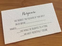 Details About 10 X Ivory Rsvp Response Cards Printed And Cut Wedding Invitations Inserts