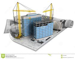 Building Design And Construction Building Design Concept Stock Illustration Illustration Of