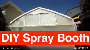 diy spray paint booth tour how to paint your car do it yourself auto and paint training site