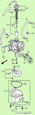 keihin carburetors myrons mopeds keihin 1982 83 honda nu50 carburetor illustration