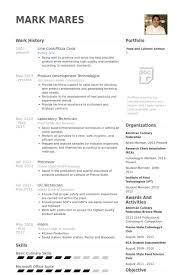 Cook Resume Resume Templates