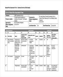 Sample Assessment Form 25 Sample Risk Assessment Forms Free Premium Templates