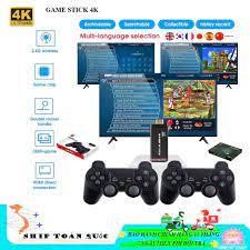 Máy chơi game Stick 4k HD - Chơi Hơn 3500+ Game - Cùng gia đình chơi  contra,.... - Đồ chơi điện tử & Máy tính đồ chơi