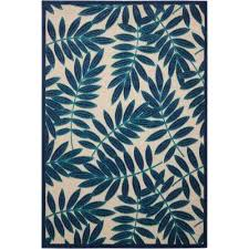 aloha navy 5 ft x 7 ft indoor outdoor area rug