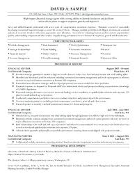 Financial Advisor Resume Examples Medium To Large Size Of Bank ...