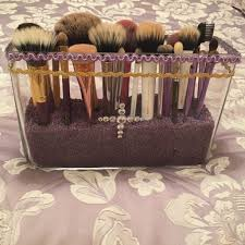 brush holder beads. 32 beads for makeup brush holder clear acrylic brushes storage box with pearl
