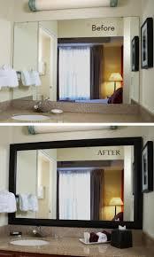 DIY Bathroom Projects Bathroom mirrors Frame bathroom mirrors and