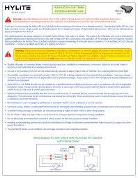 Hylite Eco Lighting Hylite Led Arc Cobtm Bulbs Installation Retrofit Guide