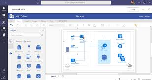Arrowheads on these lines show the direction of the flow of ideas. Collaborate On Visio Files Inside Microsoft Teams Microsoft Tech Community