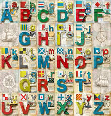 Found in the signals section, it was paired with the alphabetical code flags defined in the international code. Navy Alphabet Digital Art By Vanessa Bates