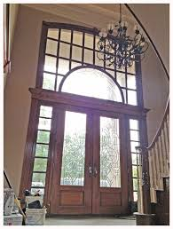 double front door with sidelights. 8\u0027 Double Door With Sidelights Topped By An Transom. Solid Mahogany Leaded Glass. Leads Into Entryway To Half Spiral Fully Suspended Front