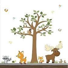 woodland animals nursery wall decals animal forest stickers Woodland Animals Nursery Wall Decals Animal