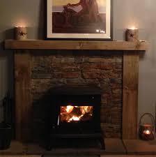 logburner with wooden surround