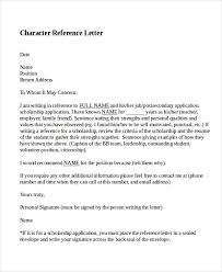 9 character reference letter template free sample example with character reference letter template