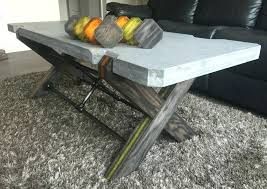 diy concrete coffee table cool concrete coffee table collections diy concrete top outdoor coffee table