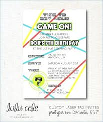 Free Laser Tag Invitation Template Laser Tag Party Invitations Gamer Truck Birthday Invite Template