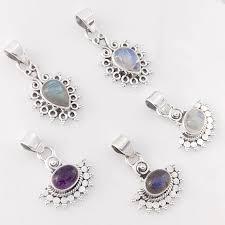 5 pcs whole lot labradorite gemstones sterling silver pendants