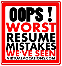 Worst Resume Mistakes We've Seen - Telecommute And Remote Jobs