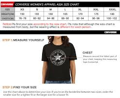 Converse Size Chart Malaysia Womens Converse Clothing Size Chart Sale Up To 38 Discounts