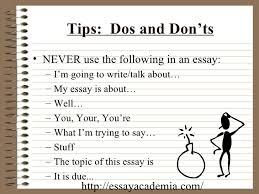 the five paragraph essay  9 tips dos and don ts