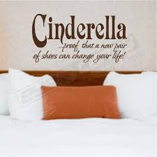 Bedroom Wall Quotes Stunning CINDERELLABEDROOM WALL QUOTES WORDS LETTERING ART DECALS