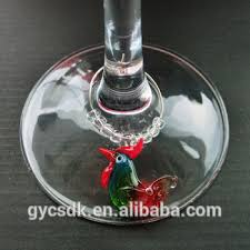 office warming gift. Glass Rooster Wine Charm House Warming Gift Office Party Office Warming Gift