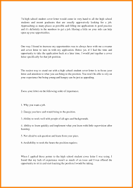 7 High School Student Cover Letter Resume Type
