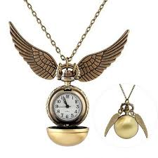 antique golden snitch pocket watch necklace pendant watch