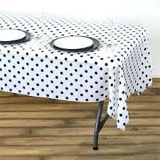 polka dot tablecloth x white black disposable dots plastic vinyl rectangular and party