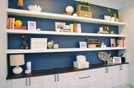 i built wall to wall floating shelves