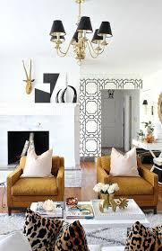 Leopard Print Living Room Decor Hollywood Regency Living Room Home Decor And Interior Decorating