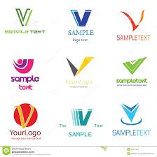 V Design Letter V Logo Stock Vector Illustration Of Banking