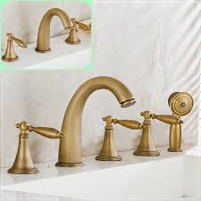 brushed brass bathroom faucet. Antique Brass Luxury Bathtub Faucet Bathroom Mixer Tap Handshower Deck Mounted 2 Models-in Shower Faucets From Home Improvement On Aliexpress.com Brushed S