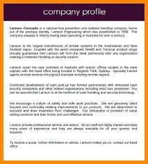 Company Profile Sample Fascinating Sample Company Profile Template Download Word Format In Business