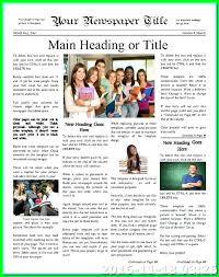 School Newsletter Template For Word Wonderful Best School Newsletters Newsletter Template Ideas On