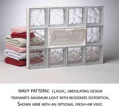 wavy glass block pattern