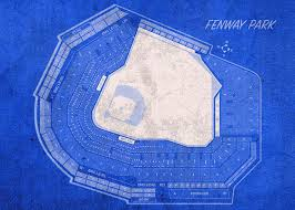 Unh Wildcat Stadium Seating Chart Fenway Park Boston Seating Chart Vintage Patent Blueprint