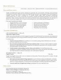 Sample Teacher Resume Fresh New Teacher Resume Examples Resume