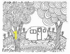 Camper Trailer Coloring Pages Instant Download Vintage Travel