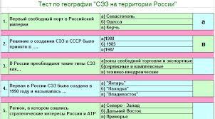 Оценка знаний учащихся География Сообщество взаимопомощи  Итерактивный кроссворд по теме Свободные экономические зоны на территории России 9 10