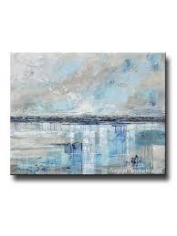 giclee print art abstract painting beige grey light blue navy beach coastal wall art home decor on seafoam green canvas wall art with giclee print art blue abstract painting canvas art beach coastal