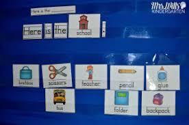 Predictable Charts Kindergarten Predictable Sentence Pocket Chart Mrs Wills Kindergarten