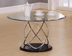 trias glass coffee table round in clear