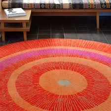 outdoor rugs circular orange