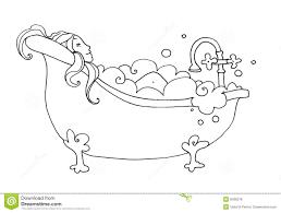 bubble bath clipart black and white